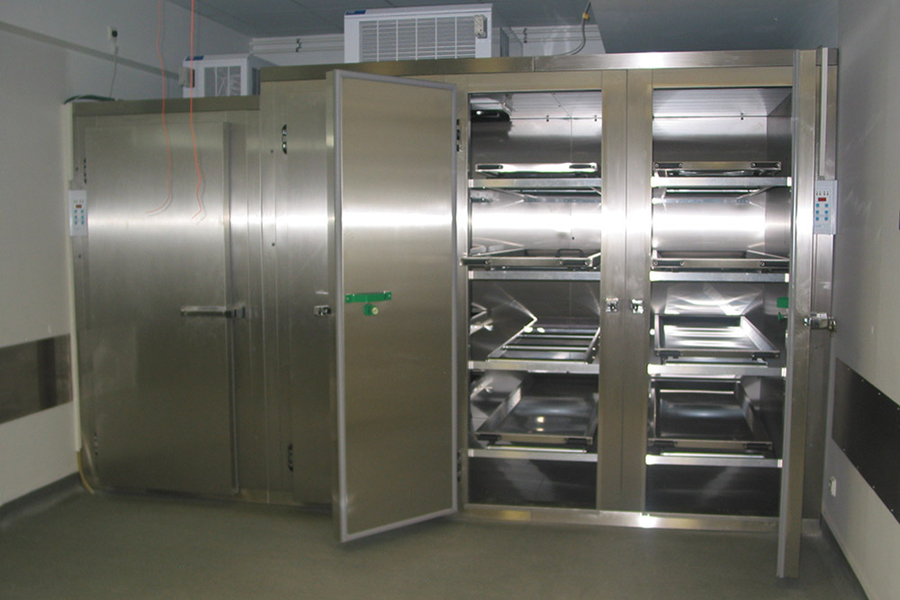 Mortuary Refrigeration Units With Multiple Tiers Per Door